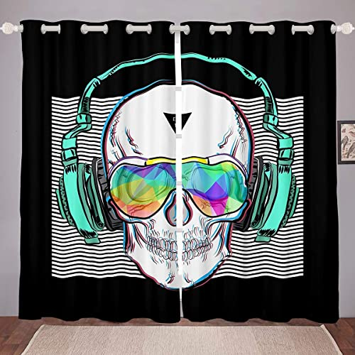 Editors' Choice: Feelyou 3D Skull Blackout Curtains Skull
