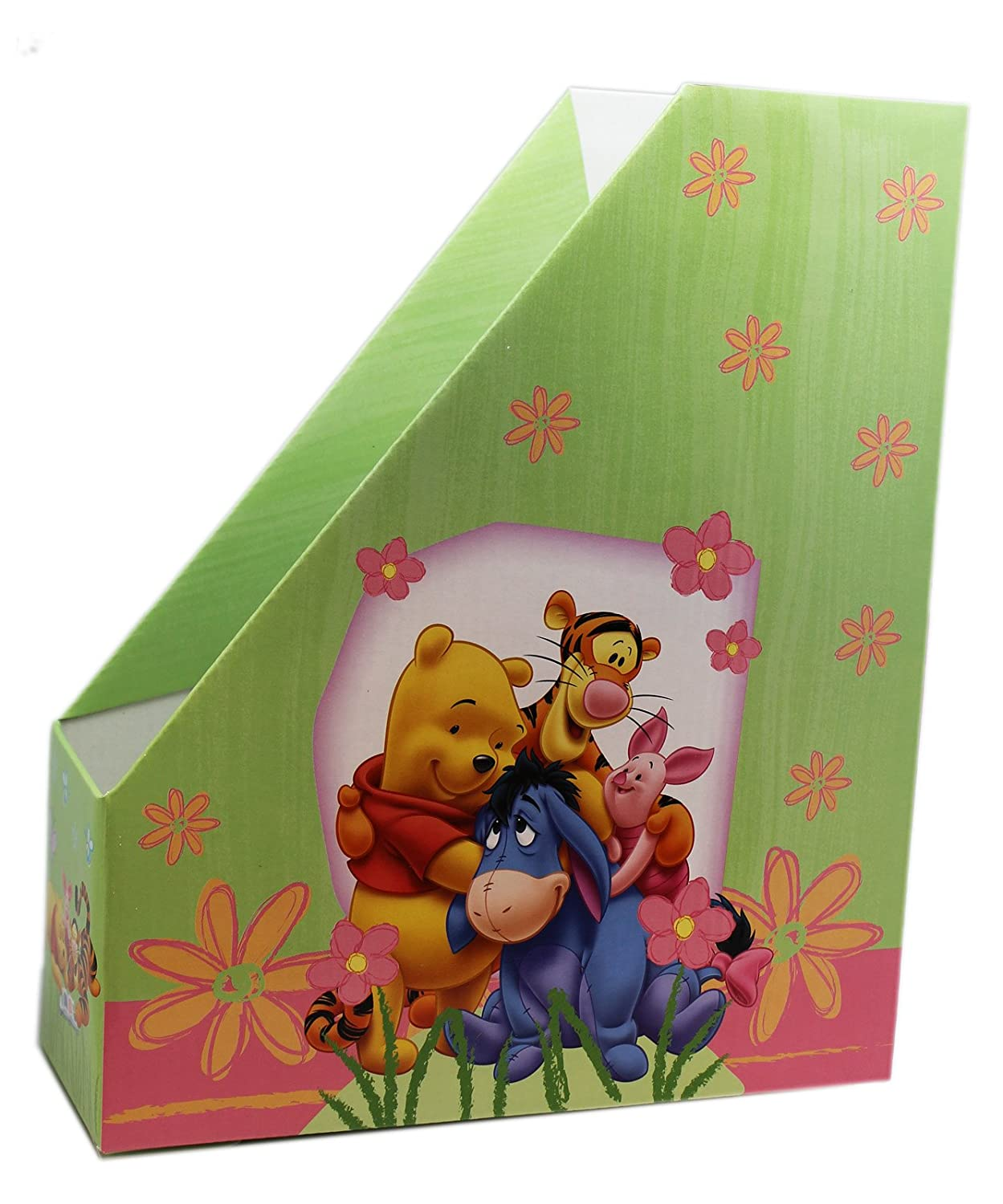 Pink and Green Winnie the Pooh Magazine and Coloring Book Holder ...