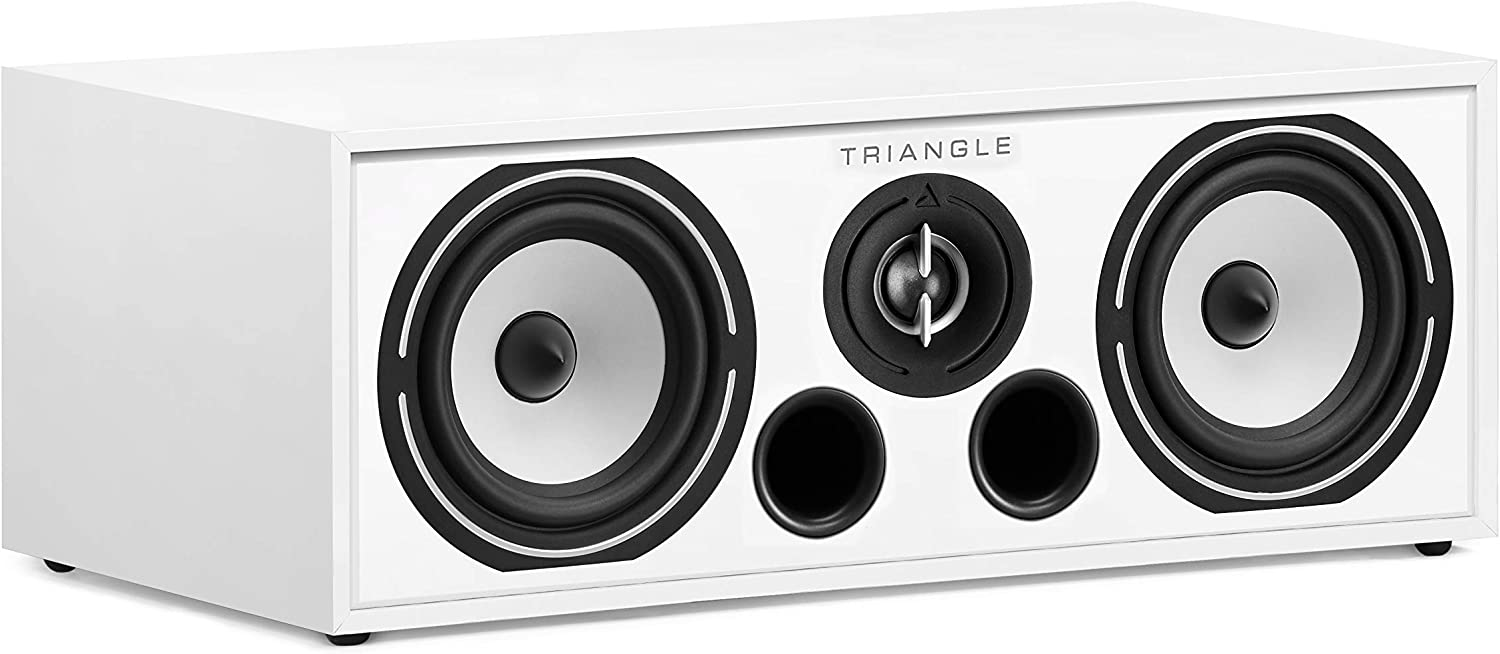 triangle HiFi Home Cinema Center Speaker - Borea BRC1, White
