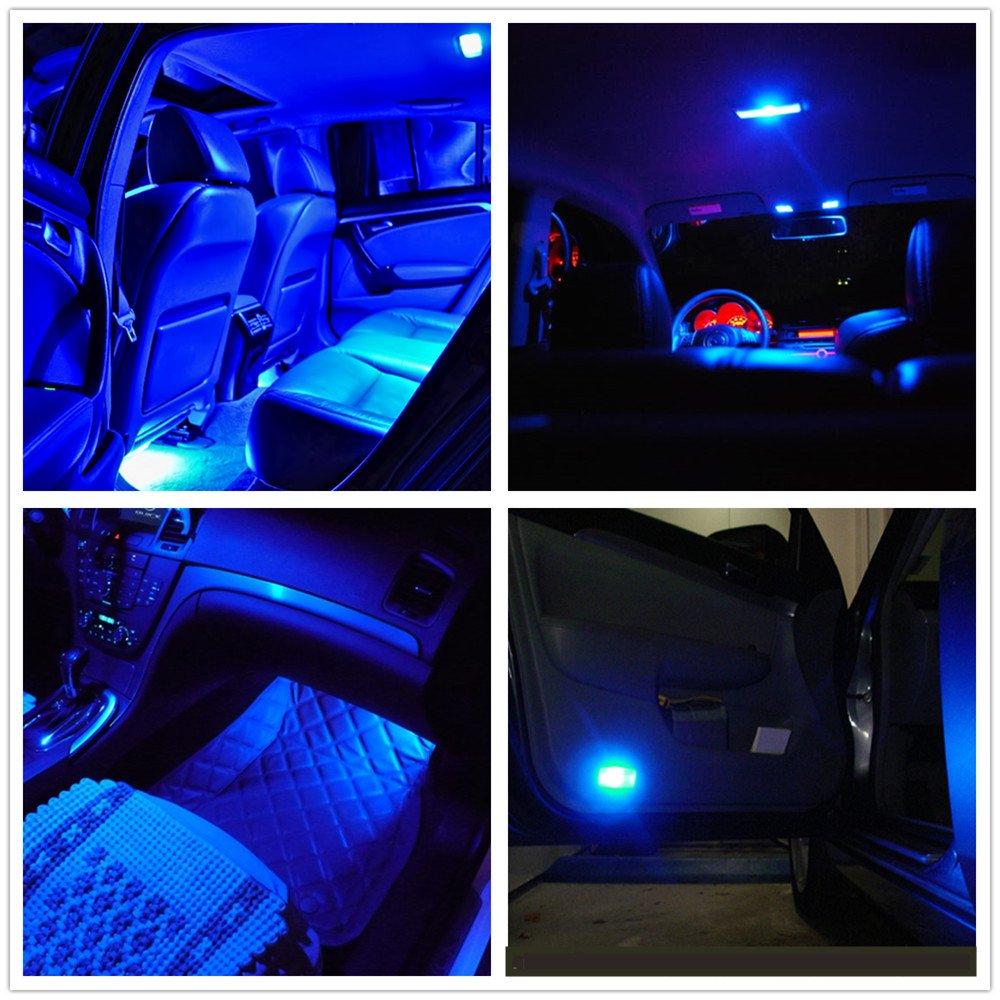 WLJH 10 Pack Blue 8-SMD LED Bulb for Instrument Panel LED Light Gauge Cluster Dashboard Indicator with T10 Socket