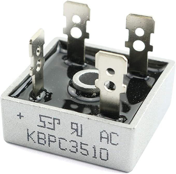 4pcs BR3510 Bridge Rectifier Diode,35A 1000V Single Phase,Full Wave 35 Amp 1000 Volt Electronic Silicon Diodes,4-Pin
