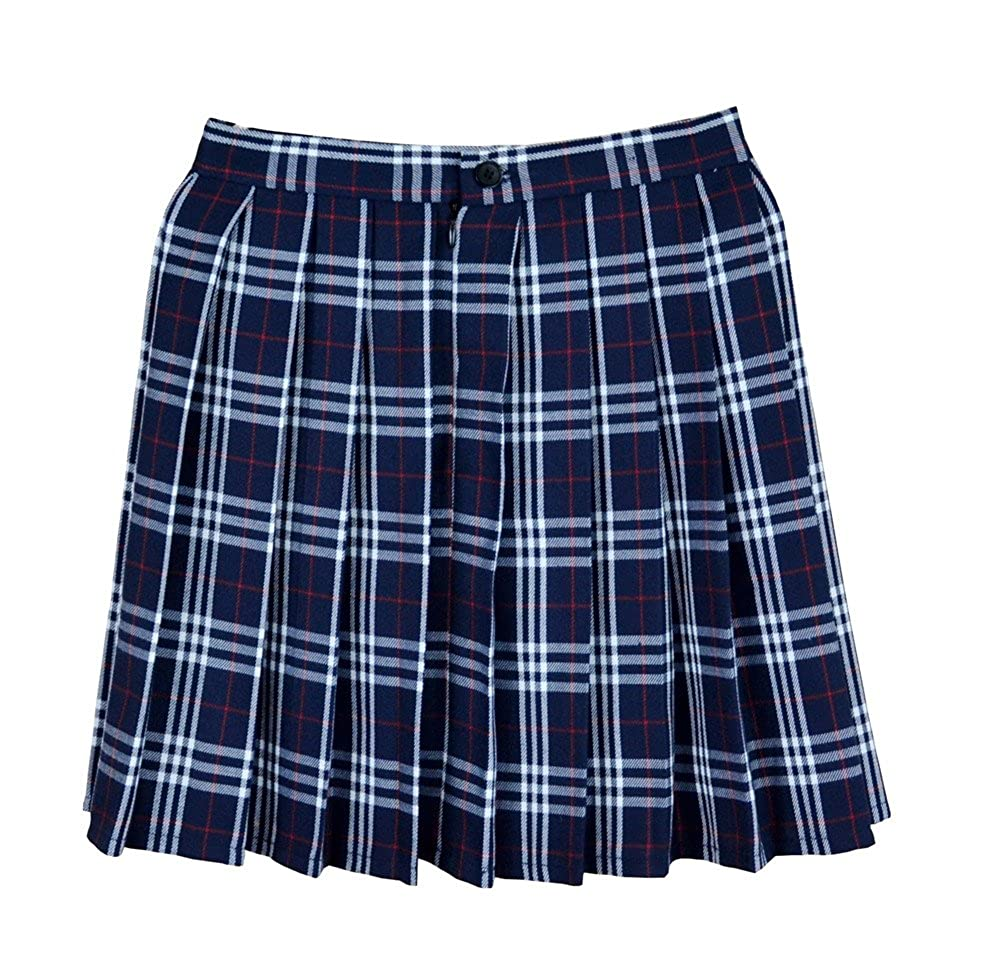 Women School Uniforms Plaid Pleated Mini Skirt At Amazon Womens