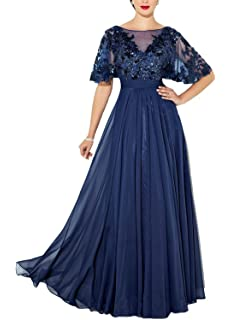 ec225fcfa385 YOUAREFACNY Womens Elegant Lace Mother The Bride Dress Beaded Bridesmaid  Dress