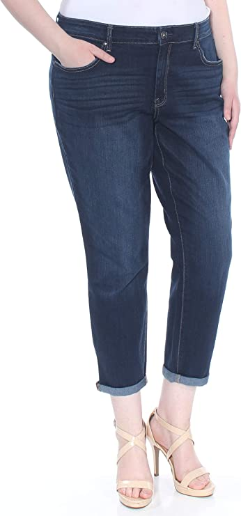 26 Inseam Jessica Simpson Ladies Relaxed Skinny Roll Crop Jean