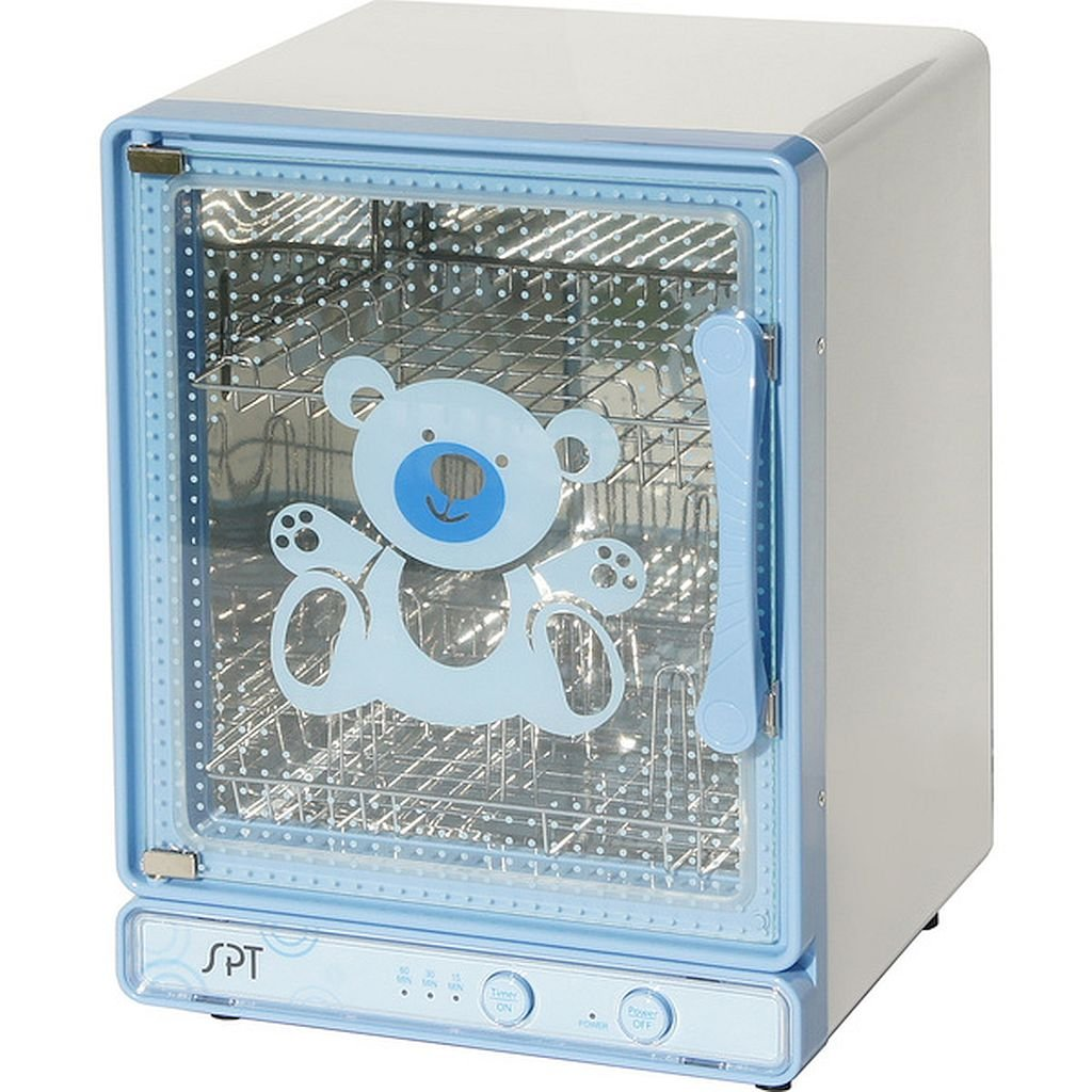 Blue Baby Bottle Sterilizer and Dryer - High Efficiency Heating Plate Distributes Heat Evenly And Maintains Sanitation