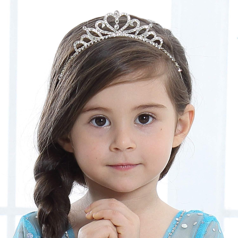 Kids Girl Crystal Baby Headband Toddler Tiara Crown Hair Band Hair Accessories