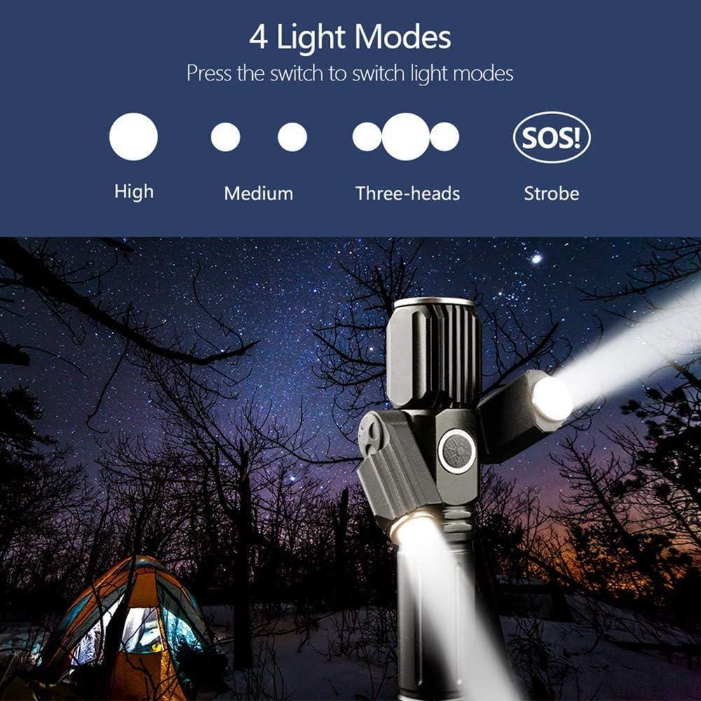 Lampe de Poche Zoom t/élescopique pour Camping Yizhet Torche Lampe de Poche LED USB Rechargeable 2500Lumens Lampe Torche IPX4 /Étanche Durgence 5 Modes Eclairage Randonn/ée Batterie Incluse