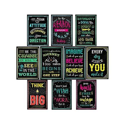 Supvox 10 Piezas Carteles De Citas Motivacionales Carteles