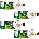 Philips Astra Spots 3-Watt LED COB Lights (Warm White, Pack of 4)