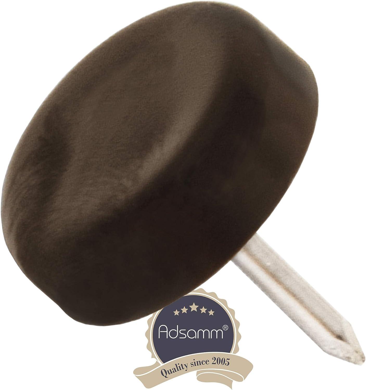 100 x Patins en plastique /à clouer ronde /Ø 10 mm noir patins glisseurs qualit/é premium de Adsamm/®