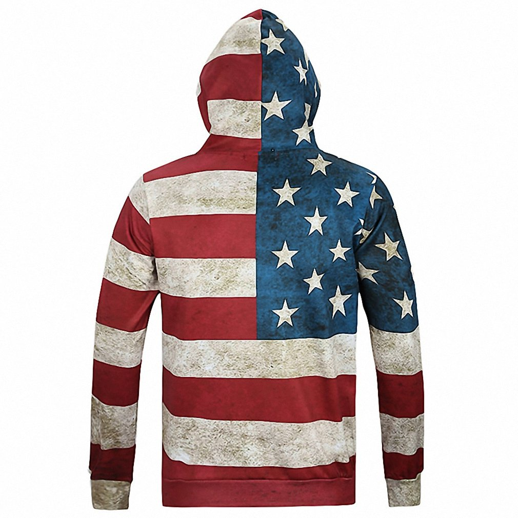 Amazon.com: Crochi Hoodies Men Sudaderas Hombre With Hooded Mens Hoodie Sweatshirt American Flag Digital Printing Pullover Men Hoody Tracksuit: Clothing