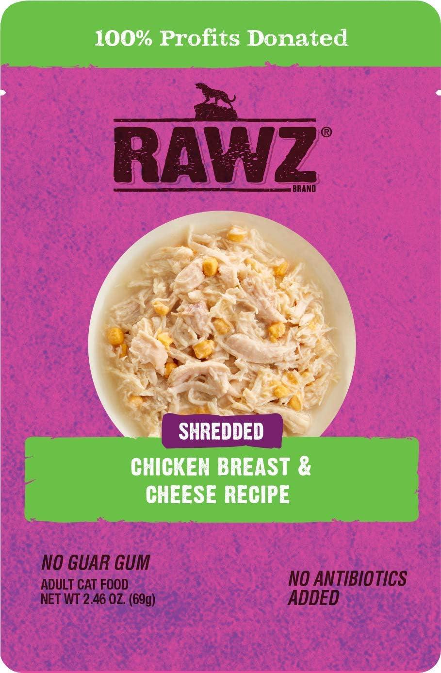 Rawz Chicken Breast & Cheese Recipe 8/2.46 oz Pouches