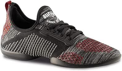 Anna Kern Hombres Zapatos de Baile/Dance Sneakers 4015 Pureflex - Rojo/Gris - Suela de Sneaker