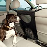 Pet Barrier, Dog Car Barrier Seat Mesh Obstacle, Oxford Cloth Dog Backseat Barrier Adjustable Divider to Keep Driver Safety , Easy to Install for Car,SUV,Truck (Black)