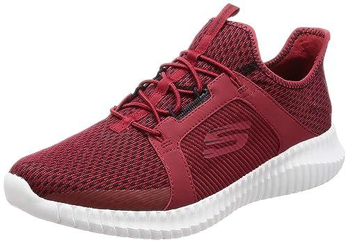 buy online c83a8 a4f4c Skechers Herren Elite Flex-52863 Sneaker, rot