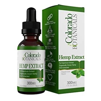 Full Spectrum Hemp Oil - 300mg 1oz - Natural Hemp Extract with 0% THC    Pure Organic   Relief for