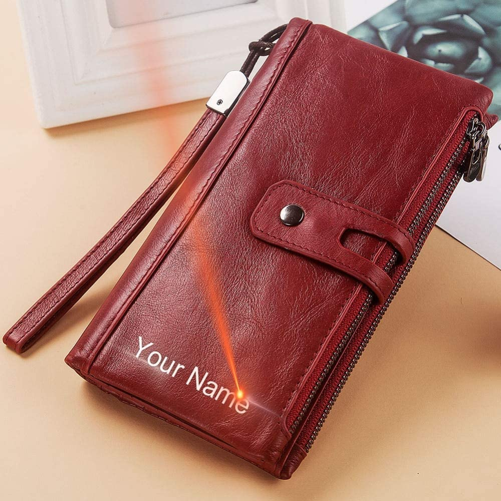 by VNUS93 Wallets Free Engraving Women Wallet Female Coin Purse Hasp Portomonee Clutch Money Bag Lady Handy Card Holder Long for Girl Use