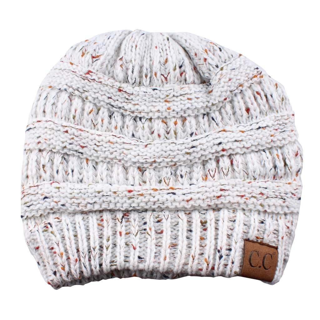 Funky Junque Confetti Knit Beanie – Thick Soft Warm Winter Hat – Unisex 8a6a3f9afb5d