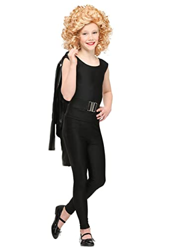 1950s Costumes- Poodle Skirts, Grease, Monroe, Pin Up, I Love Lucy Fun Costumes girls Child Grease Bad Sandy Costume $34.99 AT vintagedancer.com