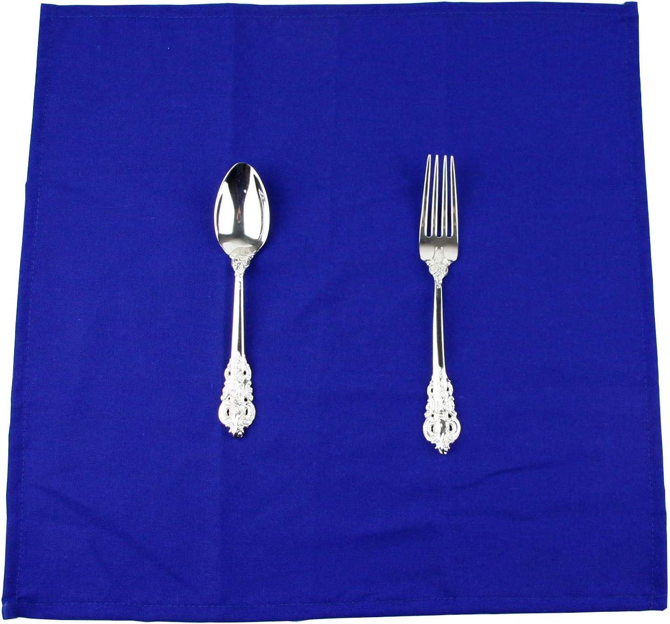f/ür Veranstaltungen und den Heimgebrauch 40 x 40 cm INFEI weich Leinen Baumwolle Abendessen Cloth Servietten Blaugr/ün 12 St/ück