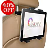 Meya Happy Apple iPad and Android Tablet Holder for Car Back Seat, 7-11-inches(Black)