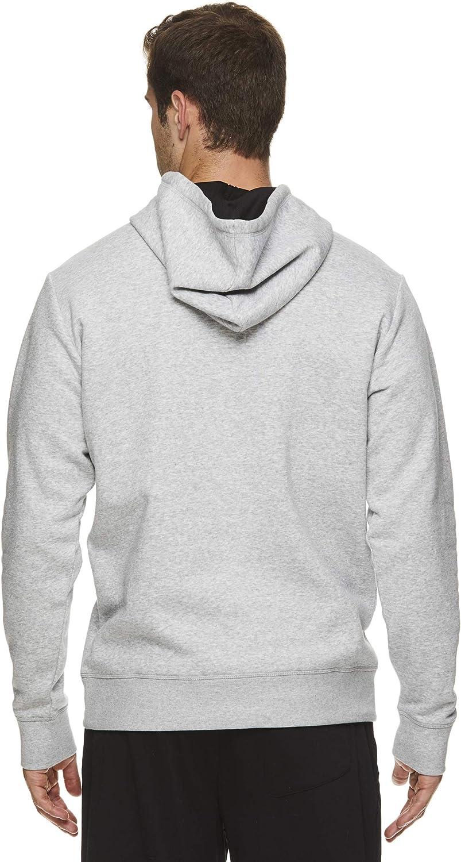 Reebok Herren Performance Pullover Hoodie - Graphic Hooded Activewear Sweatshirt Coda Grey Heather