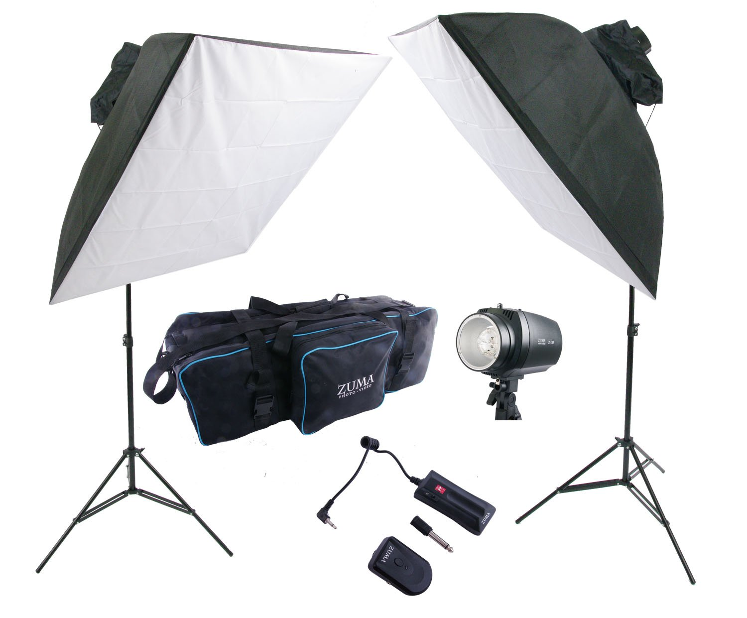 300W Photo Studio Strobe Flash Monolight Light Kit Softbox Umbrella Stand Bag by Zuma