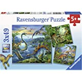 Ravensburger Dinosaur Fascination Puzzle 3x49pc,Children's Puzzles
