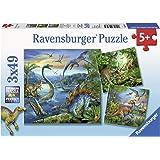 Ravensburger Dinosaur Fascination Puzzle 3x49pc,Children's Puzzles