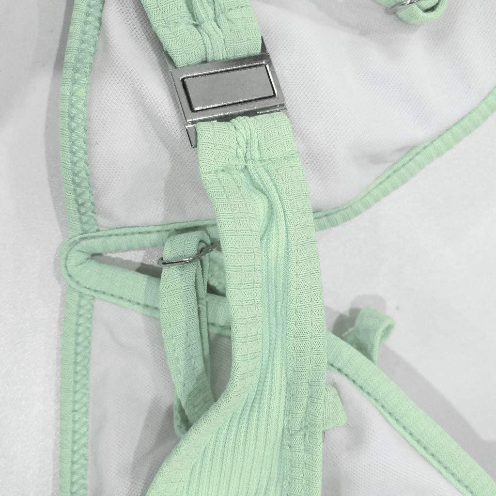 Meikosks Brazilian V Neck Swimwear for Women Plain Bathing Suit Push-Up Bikini Set