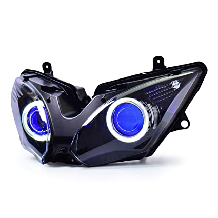 KT LED Angel Eye Faro de montaje para Kawasaki Ninja 650 ...
