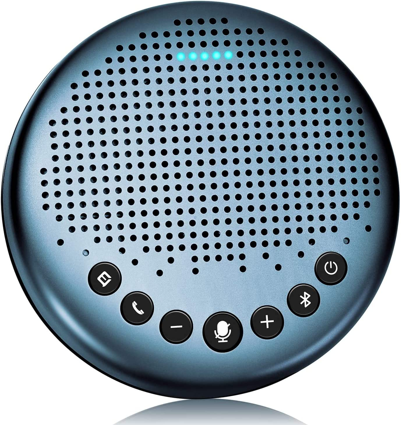 Bluetooth Speakerphone - Luna Lite Computer Speakers with Microphone, VoiceIA Noise Cancelling USB Speakerphone, Daisy Chain, Conference Microphone 360° Voice Pickup for 8 People Skype for Business