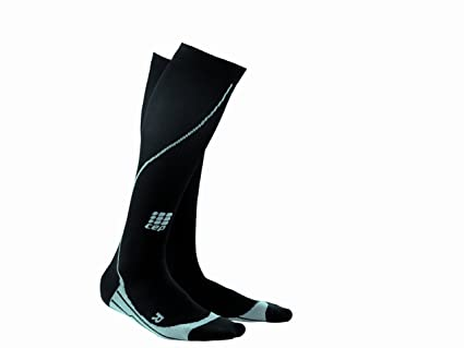 f84fc37ddd CEP Men's Running Progressive Compression Socks, Black, III, 12.5-15 inch  calf