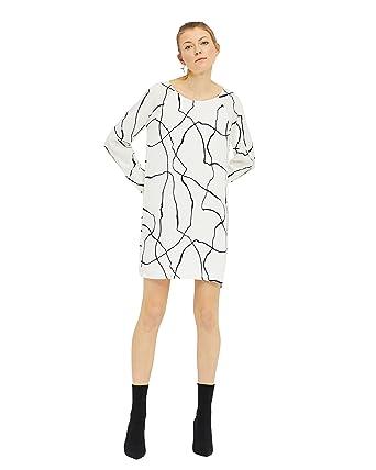 Minimum Kattia Kleid, Damen, 38, Altweiß: Amazon.de: Bekleidung