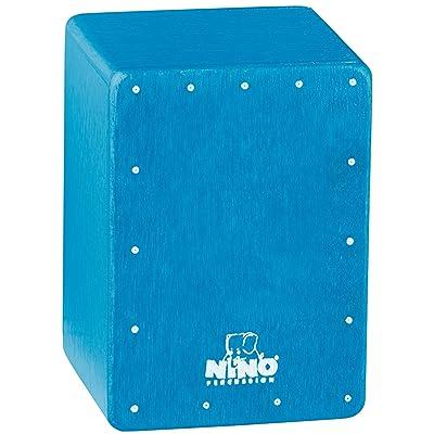Nino Percussion NINO955B Mini Cajon Shaker, Blue: Musical Instruments
