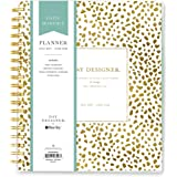 "Day Designer for Blue Sky 2017-2018 Academic Year Daily & Monthly Planner, Twin-Wire Bound, 8"" x 10"", Gold Spotty Dot"