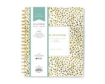 Day Designer for Blue Sky 2017-2018 Academic Year Daily & Monthly Planner, Twin-Wire Bound, 8