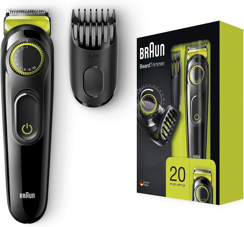 Braun Base 81679639 depiladora para la barba Negro, Verde - Depiladoras para la barba (0,5 mm, 1 cm, 0,5 mm, Botones, Giratorio, Negro, Verde, China)