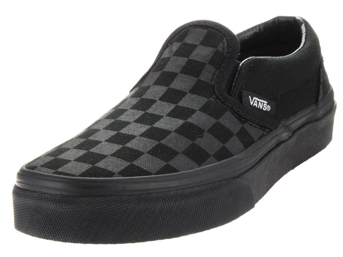 aa324622c84517 Galleon - Vans Classic Slip-On Sneakers (Checkerboard) Mono Black Boys 2