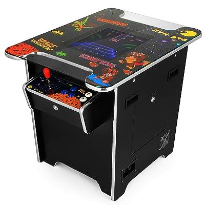 Guellin 60 en 1 Máquina de Videojuegos Arcade Maquina Recreativa Arcade Retro Maquina Arcade en Estilo Mesa 60 Retro Games Cocktail Table para Bar, Cafetería, KTV