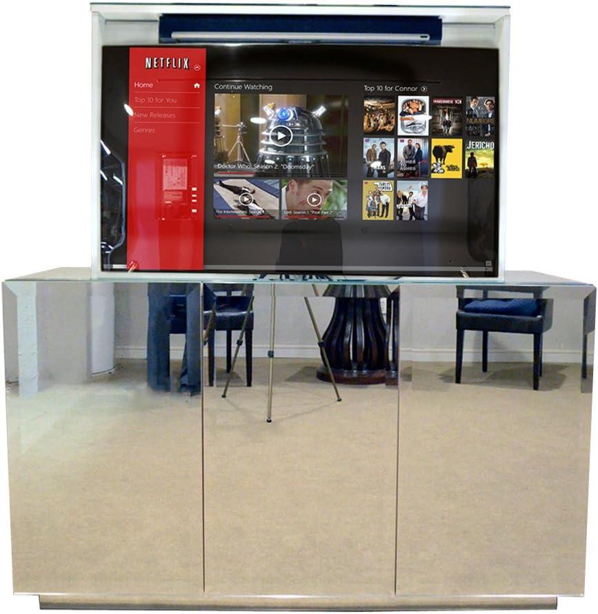 Pop Up TV Lift – Armario para TV con espejo biselado hecho a mano ...