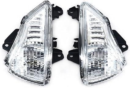 JFG RACING Front Turn Signals Blinker Light Lamp Indicator Cover Guard For KAWASAKI ER6N ER6F 2009-2011