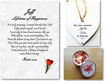 personalised love letter romantic poem lifetime of happiness husband wife boyfriend