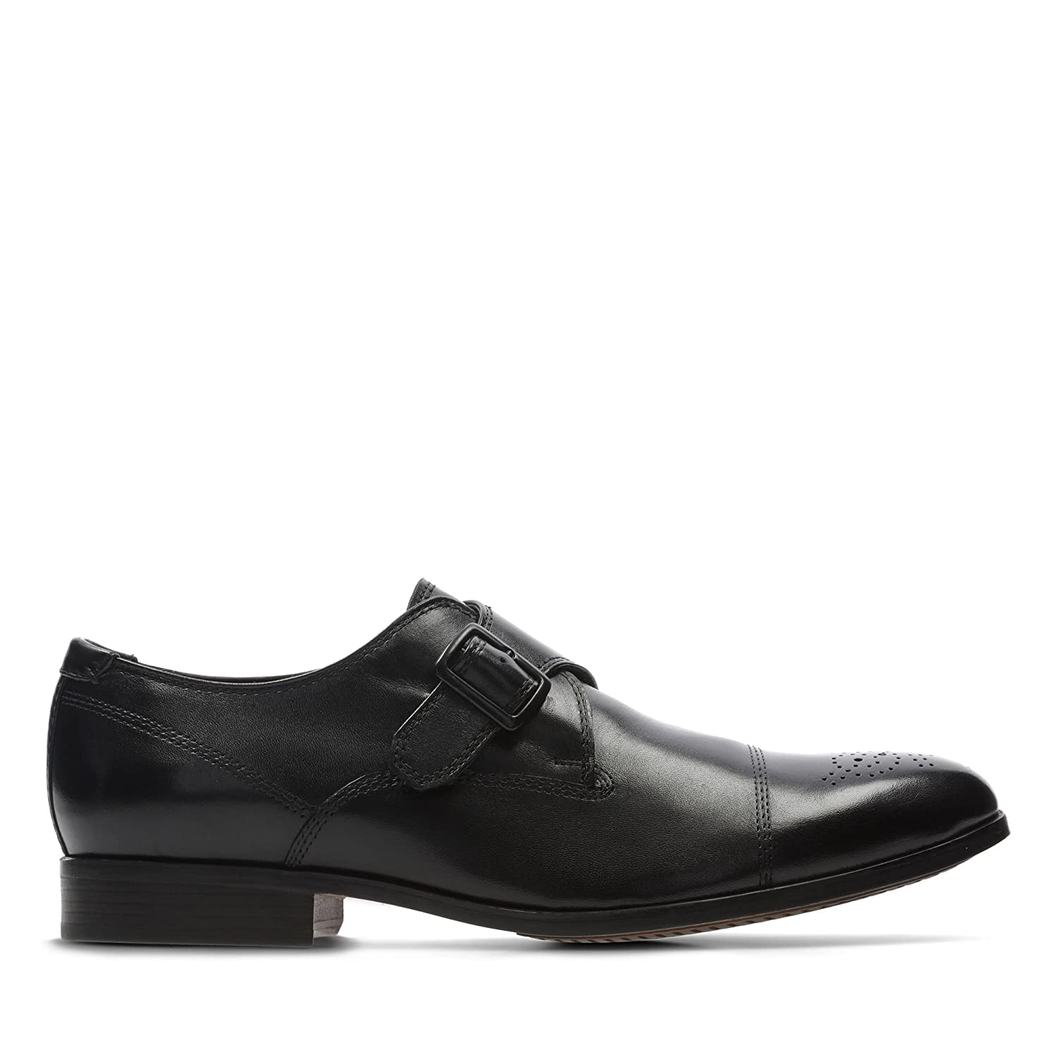 3ede5cddaa4 Clarks Gilmore Monk Leather Shoes in Black Standard Fit Size 6   Amazon.co.uk  Shoes   Bags