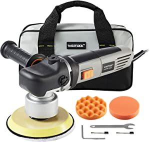 WISETOOL 6-Inch Dual Action Orbital Polisher,7Amp Variable Speed Polisher Sander,with Wool & Foam Polishing Pads,Ideal for Car Furniture Sanding,Polishing,Waxing,Sealing Glaze