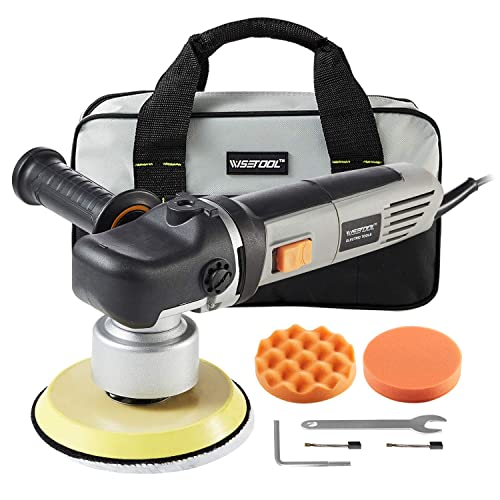 WISETOOL 850W 7 Amp Dual Action Random Orbital Polisher,6 Inch Variable Speed Buffer Sander