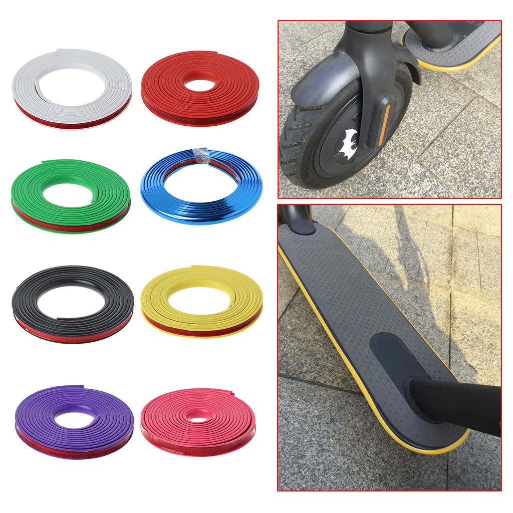 YoungerY Scooter el/éctrico de protecci/ón anticolisi/ón Strip For Xiaomi Mijia M365 Skateboard Body Bumper Scratchproof Resistente a los ara/ñazos Tiras Decorativas