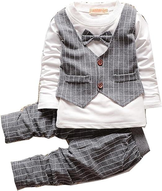 2PCS Fashion Boys Clothes Baby Clothing Kids Gentlemen Formal Party Cotton Suits