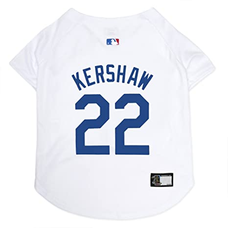 Amazon.com   MLBPA Dog Jersey - Clayton Kershaw  22 Pet Jersey - MLB Los  Angeles Dodgers Mesh Jersey 574fee5206c
