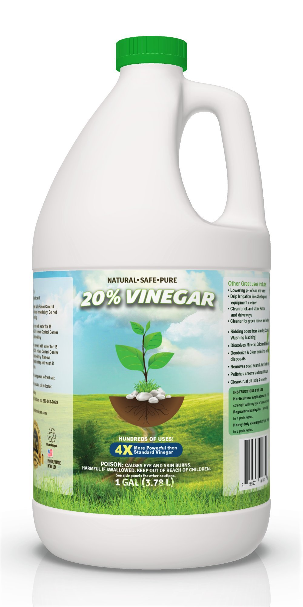 Pure 20% Vinegar - Home&Garden 1 Gallon (Packaging May Vary)